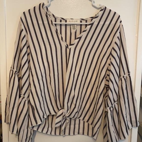 Lavender Field striped blouse